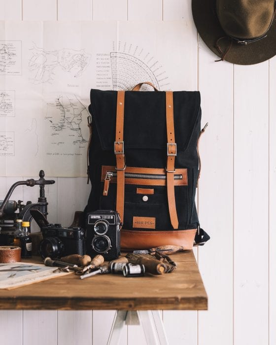 black bag with tools