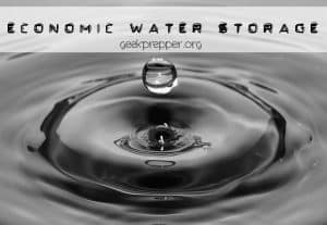 economic water storage