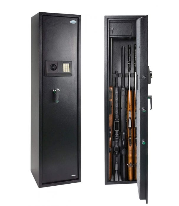 Rifle Safe Gun Safe Quick Access 5-Gun Shotgun Cabinet