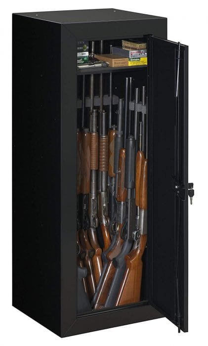 Stack-On GCB-1522 Steel 22-Gun Security Gun Cabinet in Black