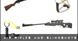 air rifles and slingshots