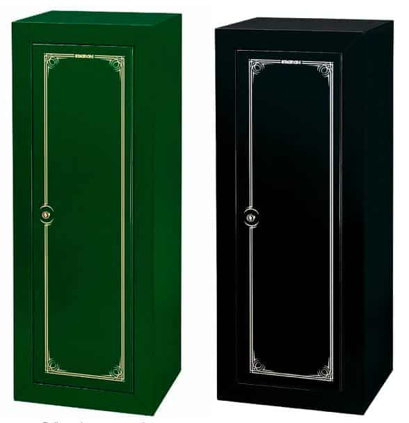 stack on 14 gun security cabinet in black and green