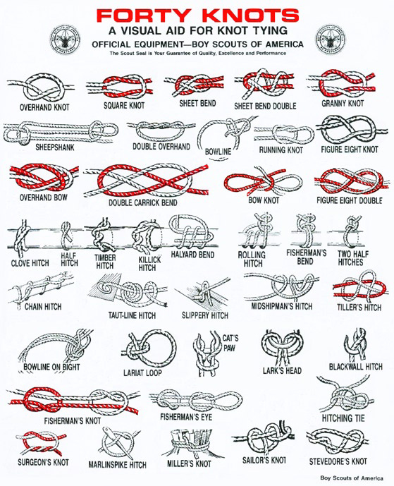 image about Printable Knot Tying Cards referred to as Easy Knot Books