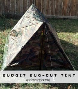 budget bug out tent