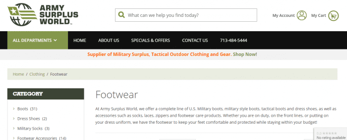 Army surplus world - online shop for military goods