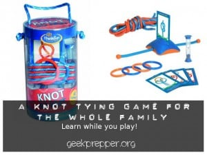 Knot tying game for the family