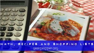 math, recipes and shopping lists