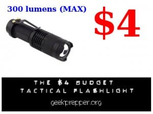 The 4 dollar budget tactical flashlight