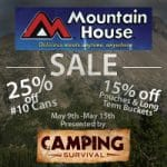 Mountain House foods on Sale for 1 week