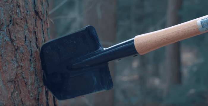 throwing a cold steel shovel