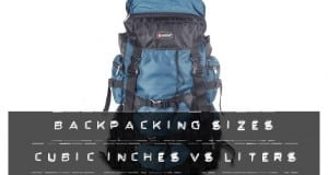 Backpacking sizes cubic inches vs liters