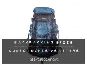 Backpack sizes cubic inches vs liters