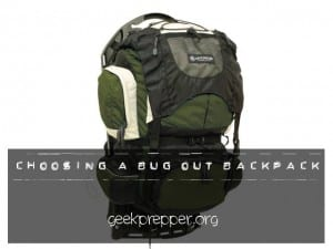 Choosing a Bug Out Backpack