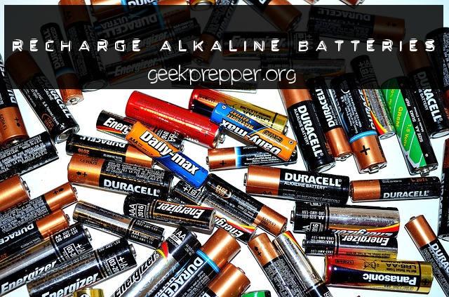 Recharge Alkaline Batteries
