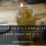 Make An Oil Lamp with Used Cooking Oil