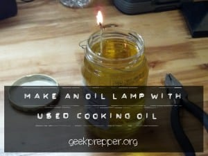 used vegetable oil lamp