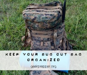 keep your bug out bag oraganized