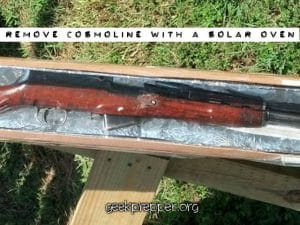 remove cosmoline with a solar oven