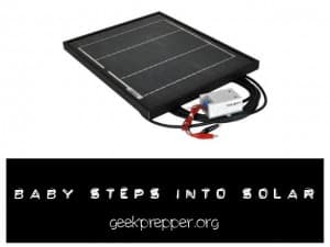 baby steps into solar
