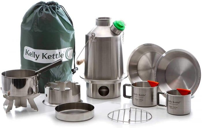 Kelly Kettle Scout 41 oz. Stainless Steel Ultimate Kit