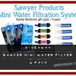 Giveaway: Sawyer Mini Water Filter System 4 pack