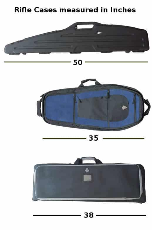 rifle cases in inches