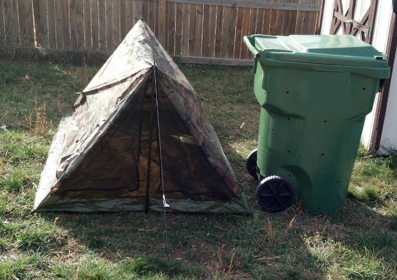 Bin shown for sizing reference. & Budget Bug Out Tent - Geek Prepper