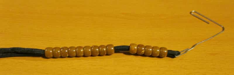 beads on the cord
