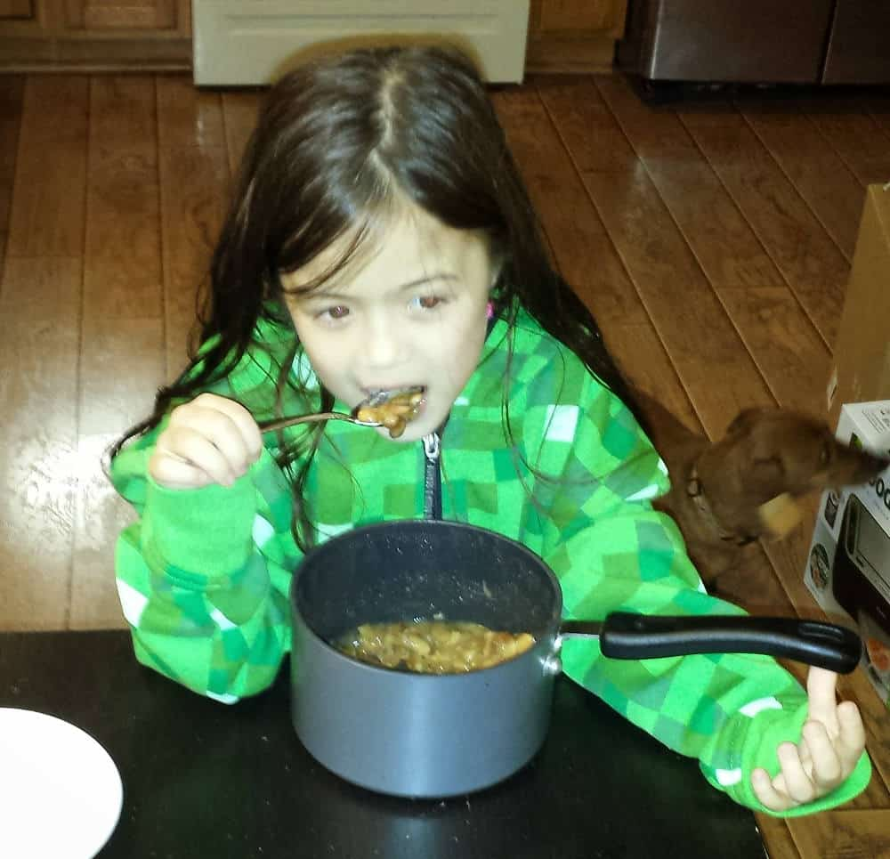 kid eating my chili