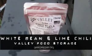 valley food storage white bean and lime chili