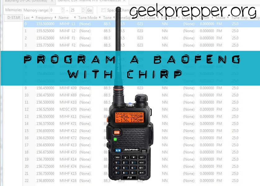 Program A Baofeng Radio With Chirp Geek Prepper