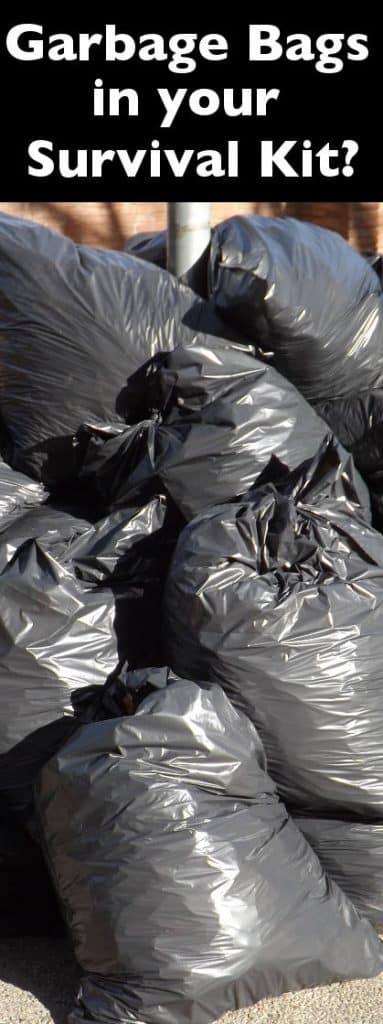 garbage bags in your survival kit PIN