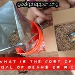 What is the Cost of 5 Gallons of Beans and Rice?