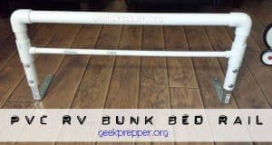 PVC RV Bunk Bed Rail
