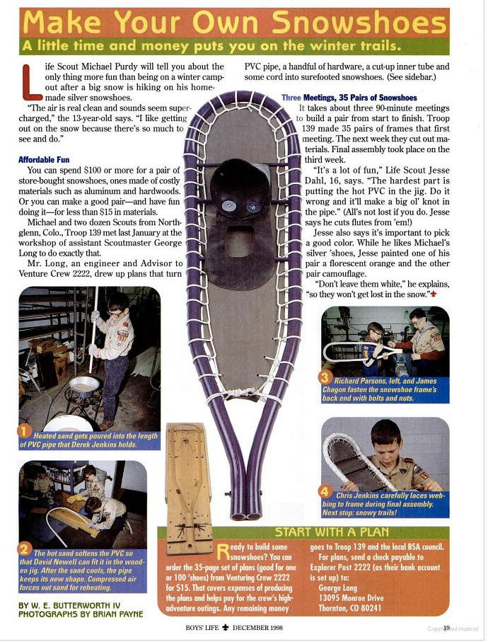make your own snowshoes