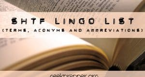 shtf prepper lingo terms