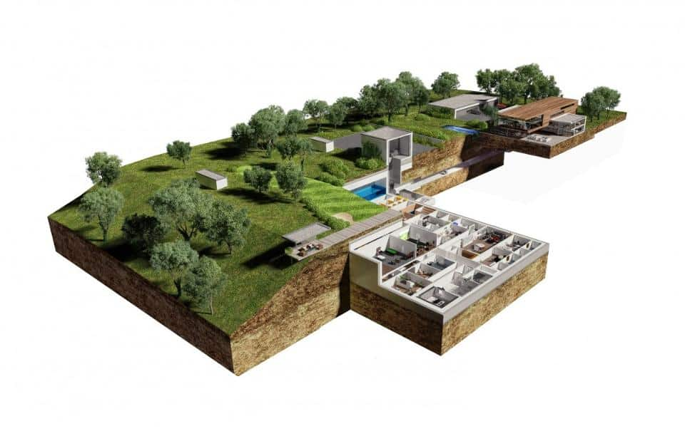 underground bunkers -oppidum