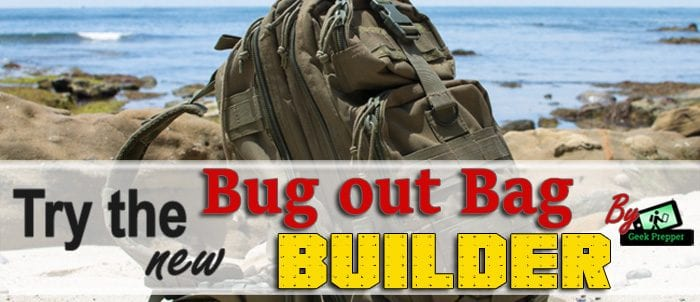 Bug out bag builder tool