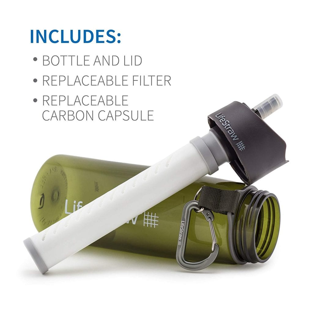 LifeStraw Go Water Filter Bottles with 2-Stage Integrated Filter Straw