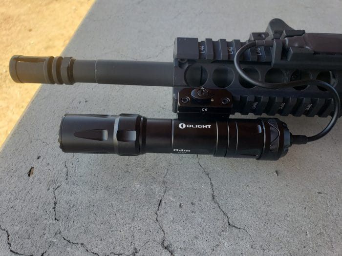 Olight Odin Tactical Flashlight Attach to rifle